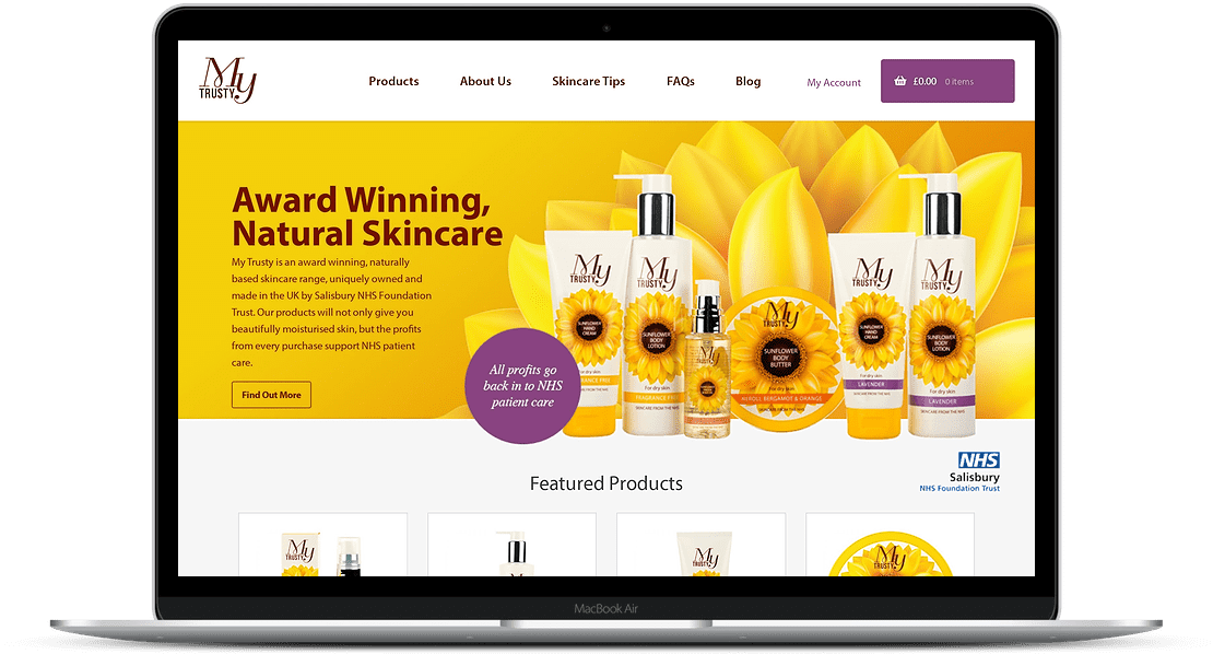 Mytrusty Skincare B2c Ecommerce Website Case Study