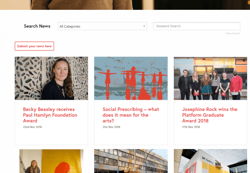 CVAN website news design