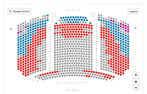 mayflower theatre seating plan