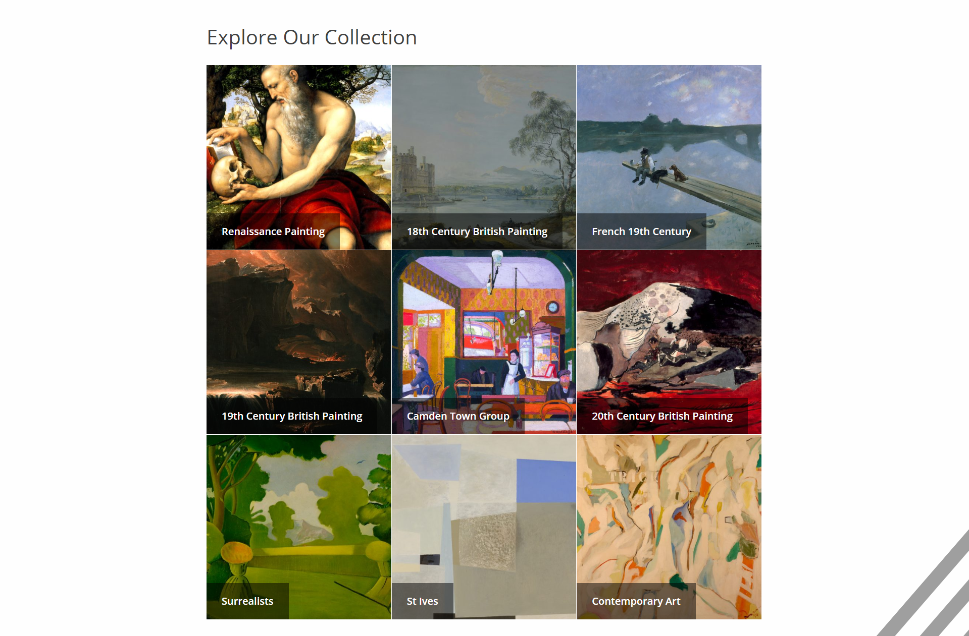 southampton city art gallery collection page example