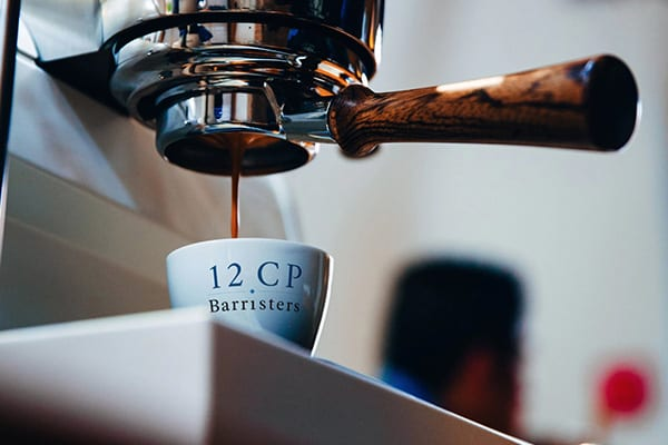 12CP Barristers coffee cup mockup