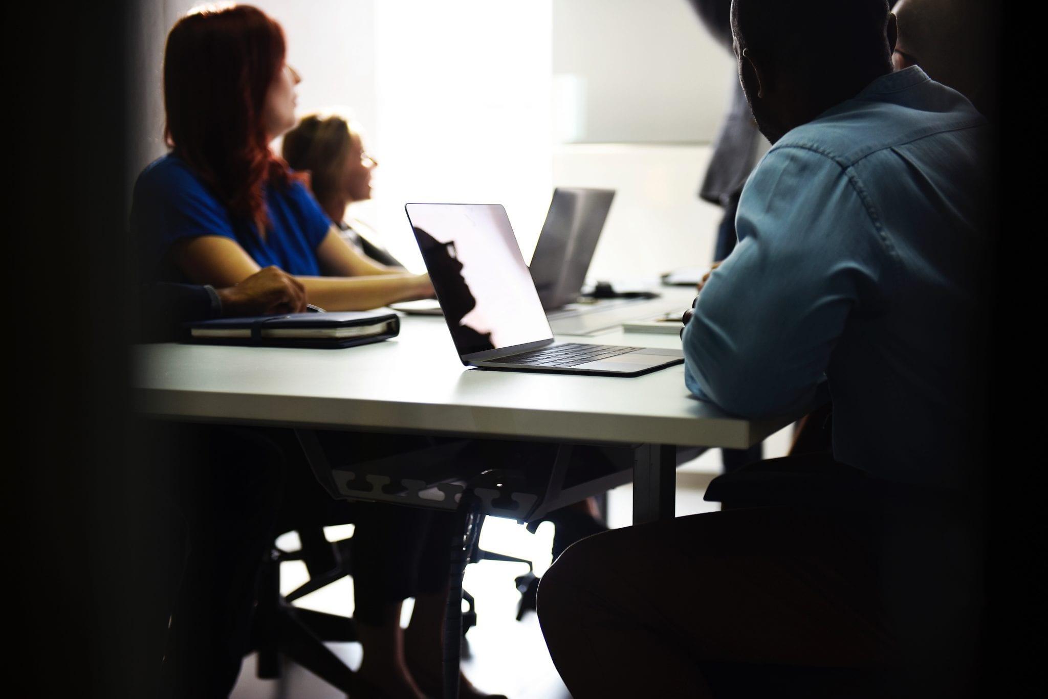 education team using website
