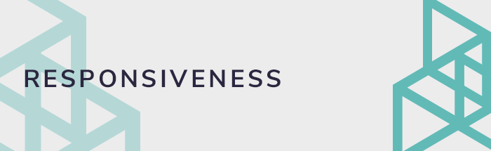 Responsiveness and web design